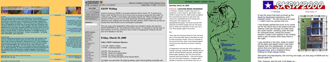 Another four screenshots of old weblogs